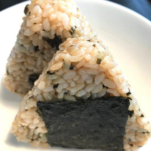 発芽玄米のわかめおにぎり♪